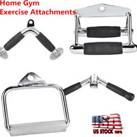 Home Gym Exercise Machine Attachments Tricep Rope Cable D Handle V Curl Bar USA
