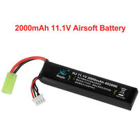 2000mAh 11.1V 30C Airsoft Battery Hobby LiPo Battery Mini Tamiya Connector US!