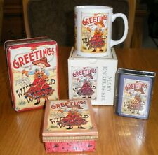 """Mary Engelbreit """"Greetings from the Wild Wild West"""" Box, Mug, Tin, Playing Cards"""