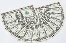 """13x Fed Reserve Note $1 Series 1974 A-L Matching Digit """"B"""" Choice Uncirculated"""