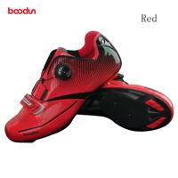 Boodun Cycling Shoes Ultralight Synthetic Road Bike Bicycle Shoes Shimano SPD-SL