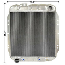 65-66 Mustang 64-65 Falcon Radiator OE Style Aluminum V-8 3 Row Fox302 LH Outlet