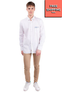 RRP €125 BOB Shirt Size XL Floral Trim Round Hem Regular Collar Made in Italy