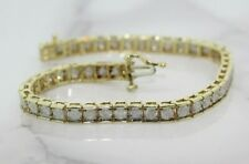 9ct Yellow Gold 5.00ct Diamond Tennis Bracelet (6.5 Inches)