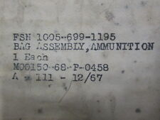 Unissued in Package, Vietnam 1967 Dated USGI Ammunition/Brass Catcher Bag