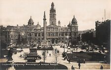 BR75316 municipal building and george square real photo   glasgow  scotland