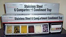 Mr Bar B Q 6 Compartments Condiment Dispenser Chilled Server Caddy Tray Salad