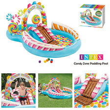 Intex Childrens Inflatable Candy Zone Water Play Centre Garden Fun Paddling Pool