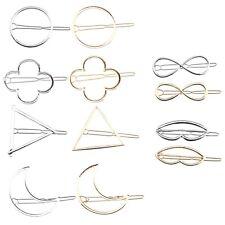 E Gold Silber minimalistischen Haarspangen zierliche hohl geometrische