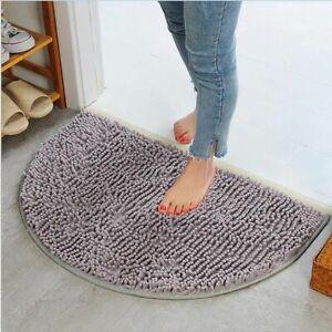Semi Circle Carpet Slip Resistant Bathing Room Rug Floor Door Mat Dirt Barrier