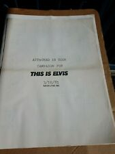 THIS IS ELVIS 3/10/81 AD CAMPAIGN