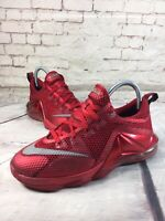 Nike Lebron XII 12 Low University Red Basketball Shoes GS 5Y Youth 744547-616