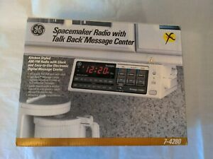 NEW in Box GE Spacemaker Clock Radio With Talk Back Message Center Model 7-4280
