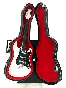 Miniature Fender Stratocaster Guitar - White - (Includes Hard Case)