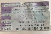 Jane's Addiction - US Concert Ticket Stub 1997 Dallas, Texas