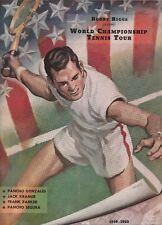 Bobby Riggs World Tennis Tour 1949-50 Program-With Gonzales, Kramer,Segura,Etc