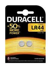 2 x Duracell Lr44 Alkaline Button Cell Type Batteries