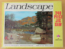 MOUNTAIN STREAM 240pc jigsaw puzzle complete. Vintage 1970s Arrow Games