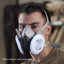 3M Dust Paint Mask Half Face Respirator Filter Spray Protect Smoke Gas Medium 3M