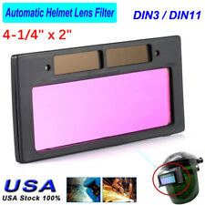 4 14 X 2 Solar Auto Darkening Welding Lens Hood Automatic Onoff Filter Shade