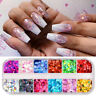 Nail Glitter Sequins Flakes Holographics Nail Art Sequins 3D Decoration Flame