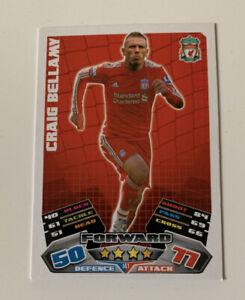 2011 Topps Craig Bellamy Match Attax EPL Football Trading Card Soccer Liverpool