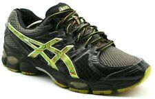 Asics Mens Shoes Size 11.5 Gel Nimbus 14 Running Athletic Sneaker Black  Green