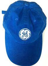 GE baseball cap General Electric logo patch unisex cotton twill adjustable  EXC edb4839c3bd4