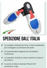 2 SUPPORTI plantari ortopedici SOLETTE GEL FOAM zone differenziate massaggianti