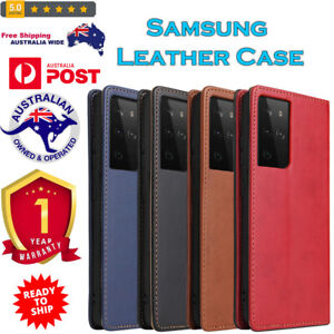 Genuine Leather Case with Holder & Card Slots & Wallet For Samsung Galaxy S NOTE