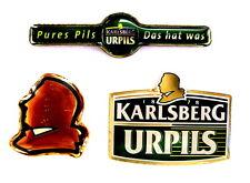 "BIER Pin / Pins - KARLSBERG BRAUEREI ""LOGOS"" in schöner Box / 3 PINS!!!!! [4002]"