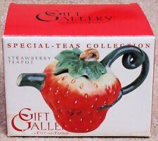 Fitz & Floyd Gift Gallery Special-Teas Collection ~ Strawberry Mini Teapot ~ Mib