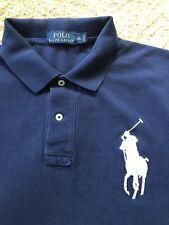 Polo Ralph Lauren Big Pony Men's Embroidered Blue/ White  Polo ShirtXL VINTAGE