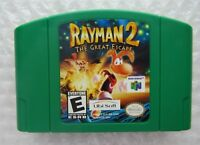 Rayman 2 The Great Escape OEM Nintendo 64 N64 Authenic Green Video Game GREAT!