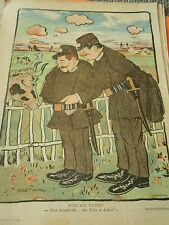 Mort aux Vaches Les Gendarmes et la vache Humour Print 1900