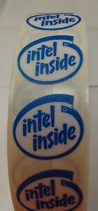 10 pcs Blue Old School vintage Intel Inside stickers