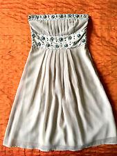 British designer MONSOON Ladies party/cocktail beaded strapless dress UK 8 USA 2