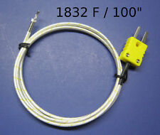 K Type Thermocouple Wire Digital Thermometer High Temperature Kiln Furnace Probe