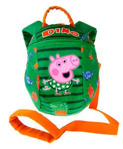 Peppa Pig George Boys Backpack With Reins Kids Safety Harness Backpack Nursery