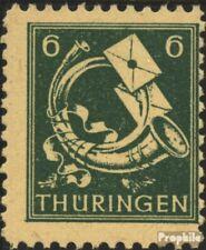 Sowjetische Zone (All.Bes.) 95X, gebrochenes Mundstück des Horns (Feld 78) postf