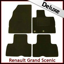 Renault Grand Scenic Mk3 2009 onwards Tailored LUXURY 1300g Car Floor Mats BLACK