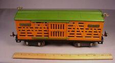 Lionel Trains 1920's No.513 Livestock Train Car Standard Gauge tin litho toy #2