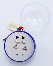 New 4 Pair Earring Set In Christmas Gift Ball from Macy's with $25 Tags #E1284