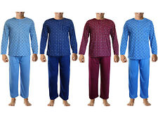 MENS PJ'S PYJAMAS SET NIGHTWEAR LONG SLEEVES TOP TROUSER SUIT GENTS LOUNGE WEAR