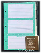 TARGET One Spot Gold Gold Coral Calendar Weekly Monthly Pages & Dividers Package