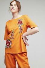 Anthropologie Notes Du Nord Dana Camilla Floral Embroidered Top Size 10 RRP £204