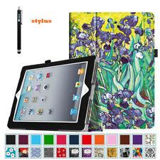 Slim Fit Folio Case Cover For iPad 2,iPad 3 & iPad 4th Gen + Stylus