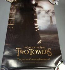 Lord of the Rings Movie The Two Towers Journey Continues 22x34 Wall Poster