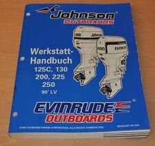 Johnson EVINRUDE EC 90° LV 125 - 250 PS Außenbordmotor Werkstatthandbuch OMC