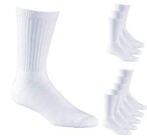 Boys White Sports PE Cotton Ribbed Socks Multipacks (UK sizes 5.5-11) Socks Lab